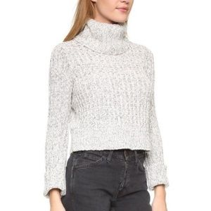 Free People Cropped Knit Turtleneck Sweater Sz XS